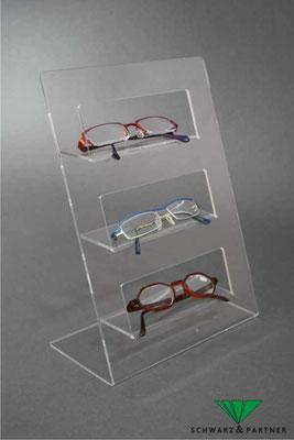 Acryl Brillenständer für 3 Brillen