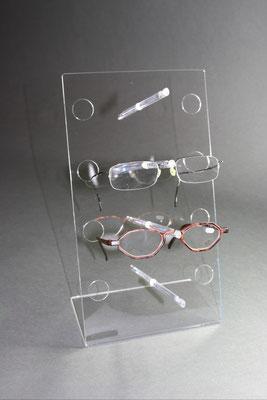 Brillenständer Acrylglas für 4 Brillen