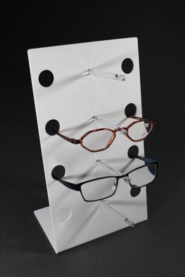 Brillenständer, Brillenaufsteller Acryl weiß