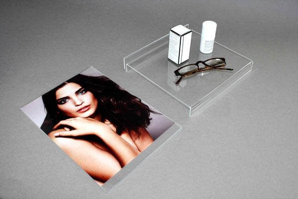 Plakattasche mit Tischaufsteller acryl