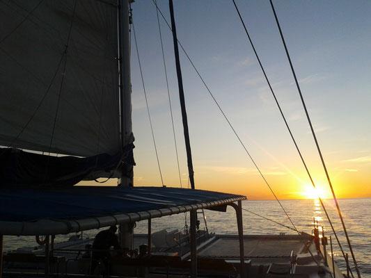 Sonnenuntergang Romantik Mittelmeer Segeln Sunset