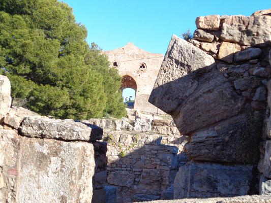 Burgruine Burg Sagunto Berg Aussicht Römer Hannibal