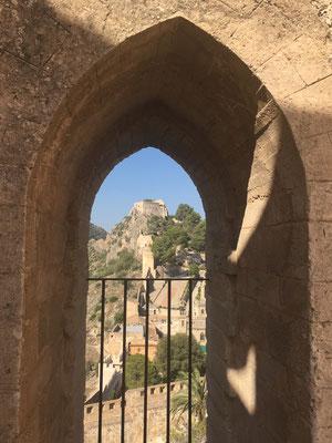 Aussicht Berg Burg Schloss Xativa Aussicht Fenster