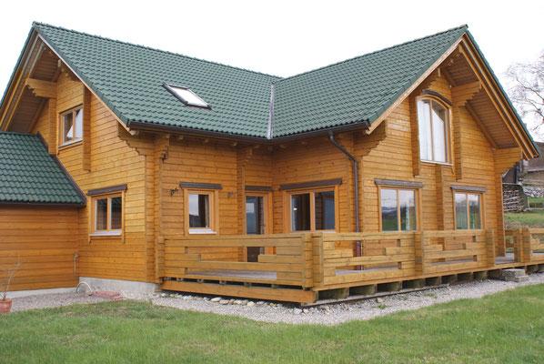 Wohnhaus, Schwedenhaus Kommis, Äußere Malerarbeiten vorher