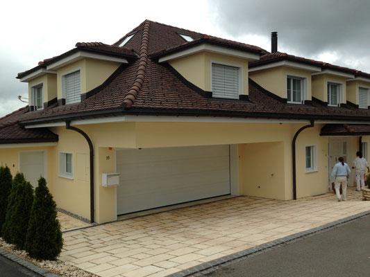 Villa im Gelberg Wil, innere und Äußere Malerarbeiten, Fassadensanierung und Verputzarbeiten