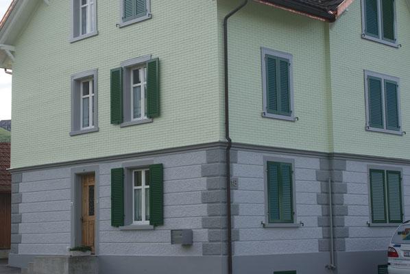 Wohnhaus Bronschhofen, Äussere Malerarbeiten