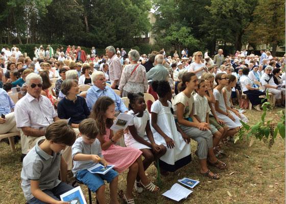 A la messe d'action de grâce pour la canonisation d'Emilie - Hauterive juillet 2015