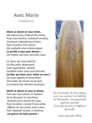 Méditation sur Marie