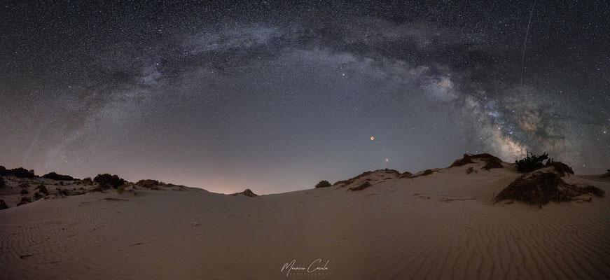 Total lunar eclipse - DuneI is Arenas Biancas