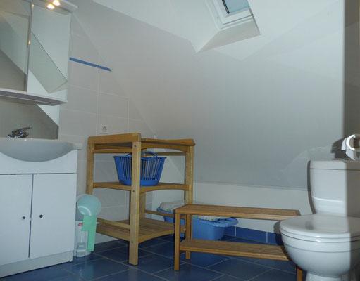 Salle de bains du 1er étage avec wc.