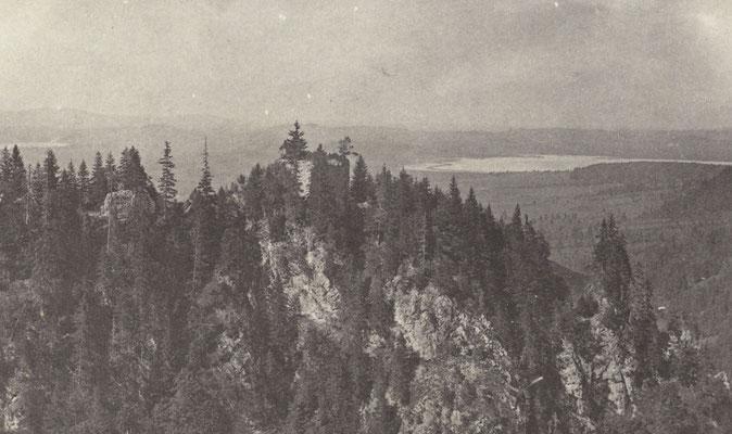 Ruinen der Burgen Vorder- und Hinterhohenschwangau, Bild Sammlung Joseph Albert