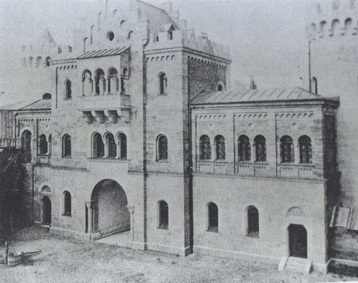 Torbau um 1873, Bild Sammlung Kienberger Verlag, Lechbruck