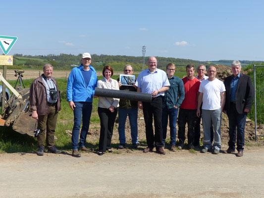 Pressetermin mit Behördenvertretern und der EnergieNetzMitte - Foto: Stefan Wagner