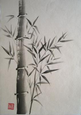 Bambus, japanische Tusche