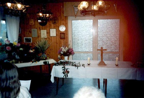 Erndtedankgottesdienst im Vereinsheim