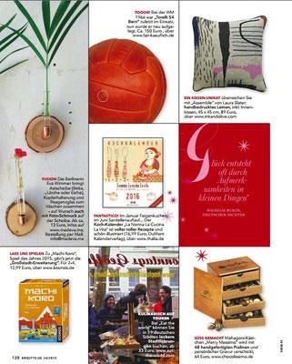 INK + OLIVE in Brigitte 24/2015 Geschenkideen zum Bestellen