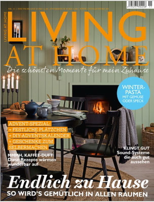 Keramik-Produkte aus dem INK+OLIVE Shop in der Living at Home, Heft 11