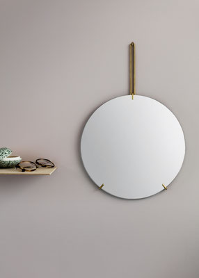 Wandspiegel WALL MIRROR, Moebe, Messing