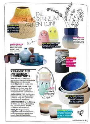 COUCH zeigt Keramikschalen von Vasco Baltazar via www.inkandolive.com