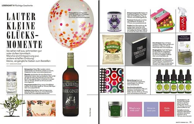 Brigitte Woman zeigt Kalender von Marjolein Delhaas via www.inkandolive.com