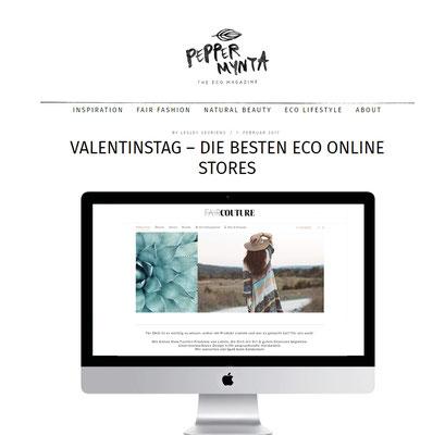 PEPPERMYNTA empfiehlt 12 Eco-Onlineshops