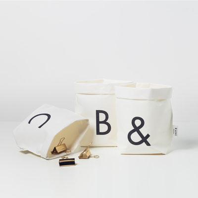 & Beutel, Ampersand, Undzeichen, Aufebwahrungsbeutel, Recycling, KAMI Design
