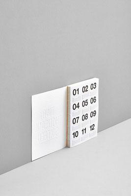 Soft-Cover Kalender Weiß für 2016 von Marjolein Delhaas