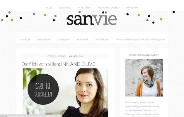 INK + OLIVE Interview auf Sanvie