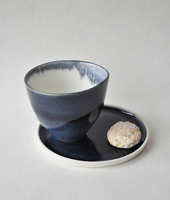 Porzellanset, handgefertigte Porzellanschale, Teeschale, Suntreestudio, Keramik aus Hamburg