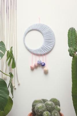 wallhanging wandmobile Moon XL handgefertigt von Studiohammel