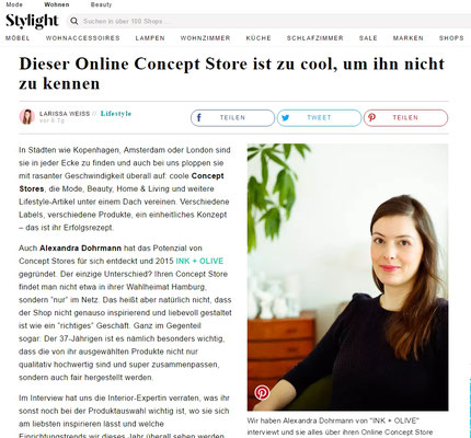 Interview auf Stylight.de