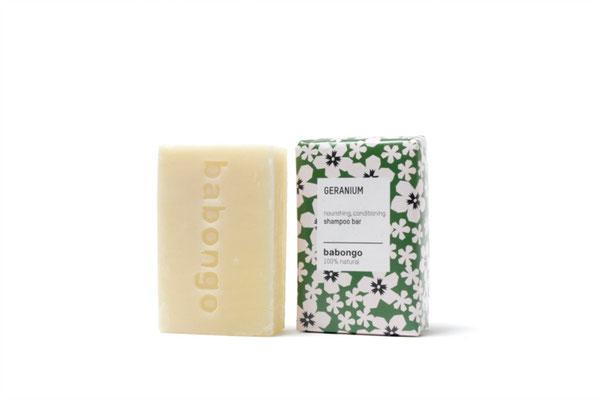 Shampooseife, Seife für die Haare, soapbar, Babongo, Geranienseife