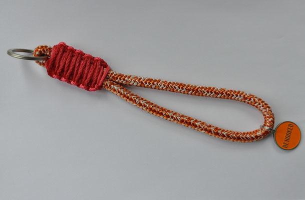 Schlüsselband aus Segeltau, handgeknüpft, behooked, St. Pauli, made in Hamburg