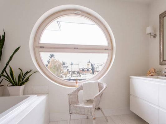Rundes Badezimmerfenster
