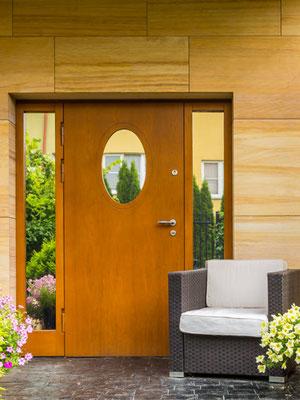 Haustür mit Spiegelglas und Spiegelglas Füllung
