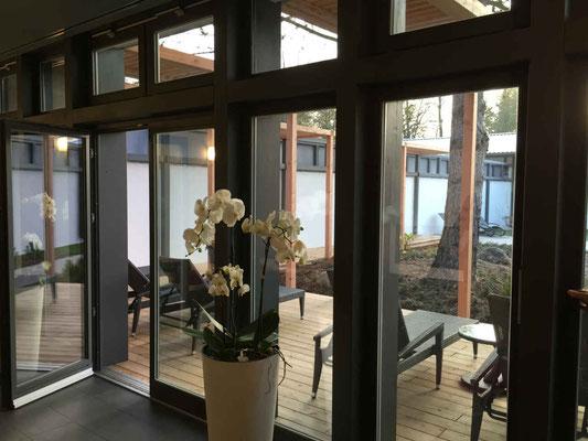 Terrassenfenster Innenansicht