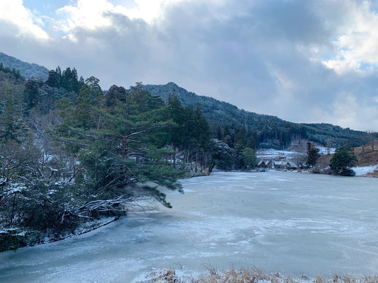 麻生池 凍結