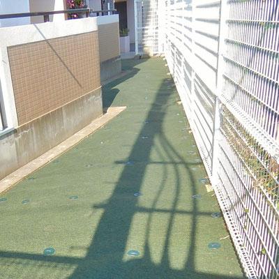 防草シート工事 After