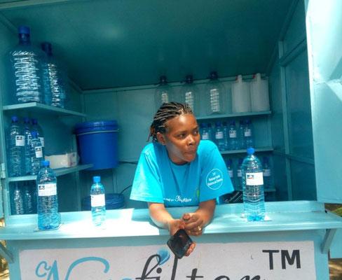 Wasserstand sauberes Wasser Afrika
