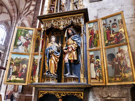 Altarbild St. Lorenz Kirche in Nürnberg Sehenswürdigkeiten Deutschland Nürnberg