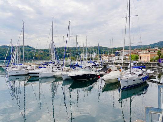 Gartenreise Italien der Hafen von Salo am Gardasee