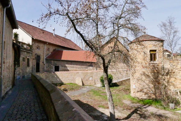 Schlossgraben in Deidesheim  Sehenswürdigkeit Deutschland Mandelblüte Rheinland Pfalz