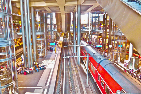 Berlin Hauptbahnhof Sehenswürdigkeiten Hauptstadt Deutschland Berlin