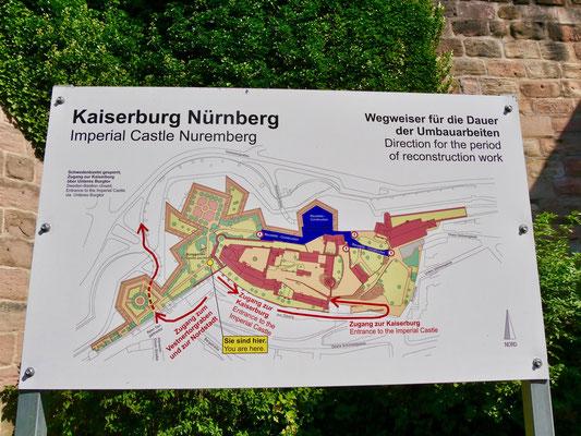 Grundriss von der Kaiserburg Anlage Sehenswürdigkeiten Deutschland Nürnberg
