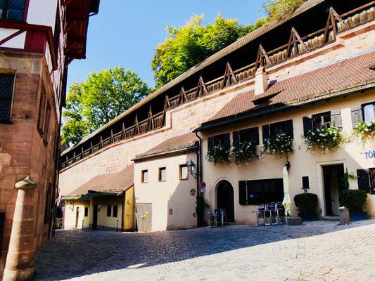 Innere Stadtmauer in Nürnberg Sehenswürdigkeiten Deutschland Nürnberg