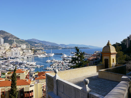 Monaco, Blick auf Yachthafen