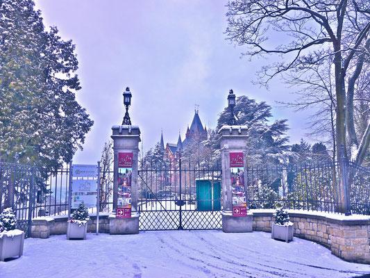 Schloss Drachenburg im Winterzauber