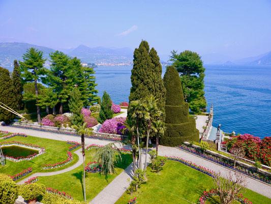 Isola Bella, Lago Maggiore Barock Garten Palazzo Borromaer