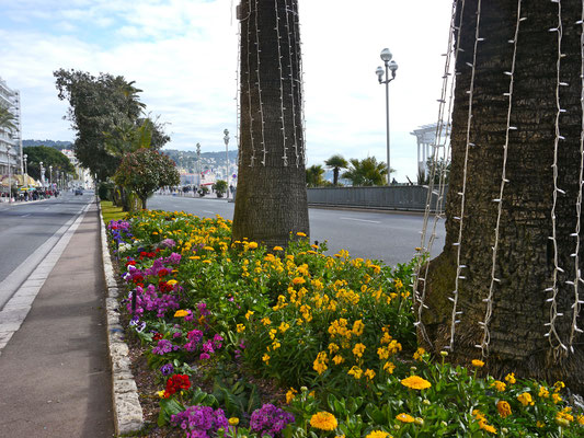 Promenade des Anglais in Nizza Frankreich Cote DÀzur