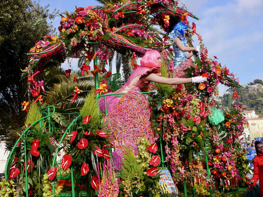 Karneval in Nizza Blumenkorso Frankreich Cote DÀzur